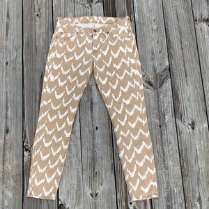 Unique Chevron pattern jeans
